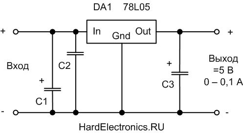 78L05 схема включения