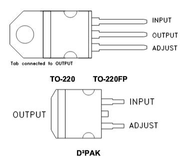 LM317T схема включения выводы