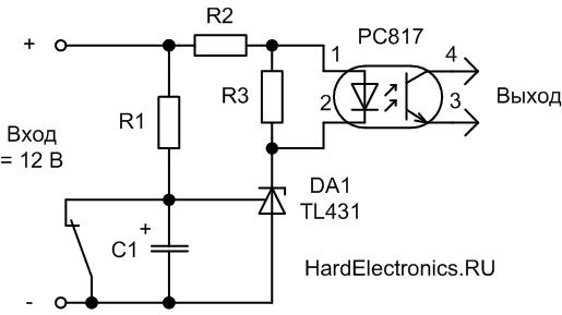 Реле времени на TL431 схема включения