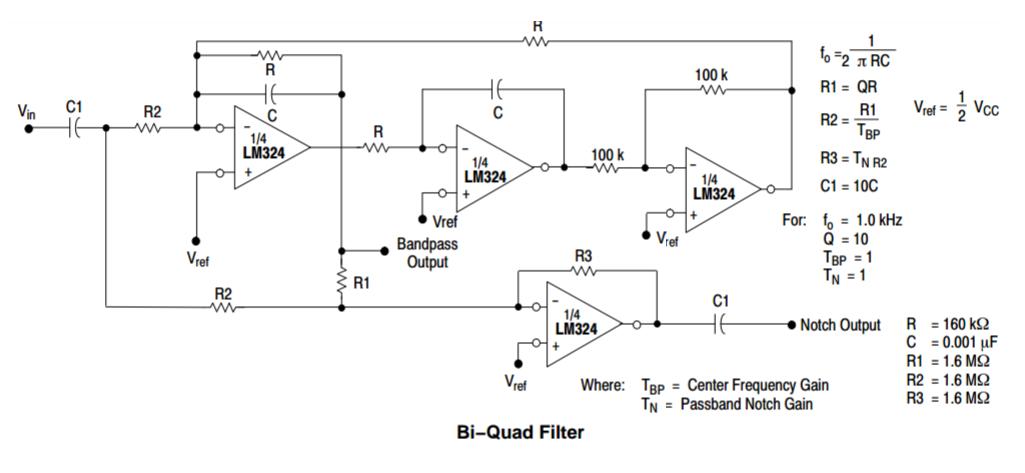 Биквадратный фильтр на LM324