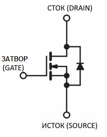 УГО n-канального МДП-транзистора